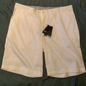 Nike men's white dri fit gold shorts 36